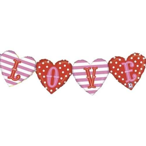 Μπαλόνι αγάπης 'Love' μπάνερ με καρδιές