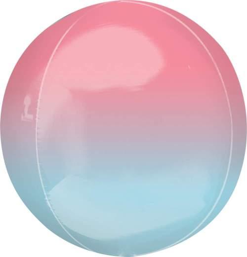 Μπαλόνι στρογγυλό Ombre κόκκινο & μπλε