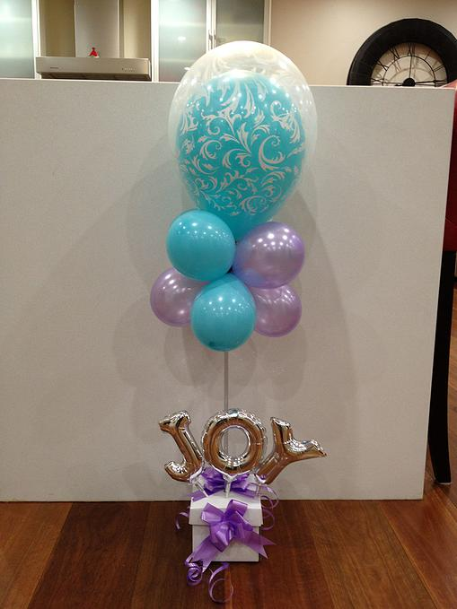 Balloon In A Balloon Topiary With Name