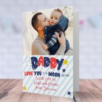 Daddy Printed Fathers Day Card