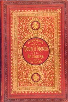 Fue portada de la primera edición del libro de Julio Verne (1873)
