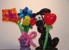 balloon-dog-flowers