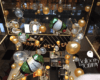Balloon champagne bubble install at Fremont Chicago NYE 2017 - Balloons by Tommy