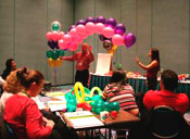 Matt and Celini Teaching Balloon Class