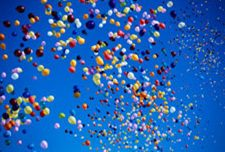 Colorful Latex Balloons Release