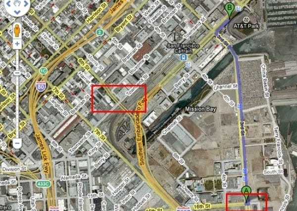 SF Giants Free Parking Map