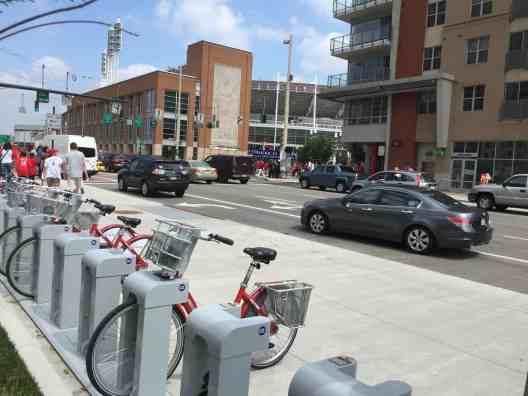 Bike Rack near Great American Ballpark