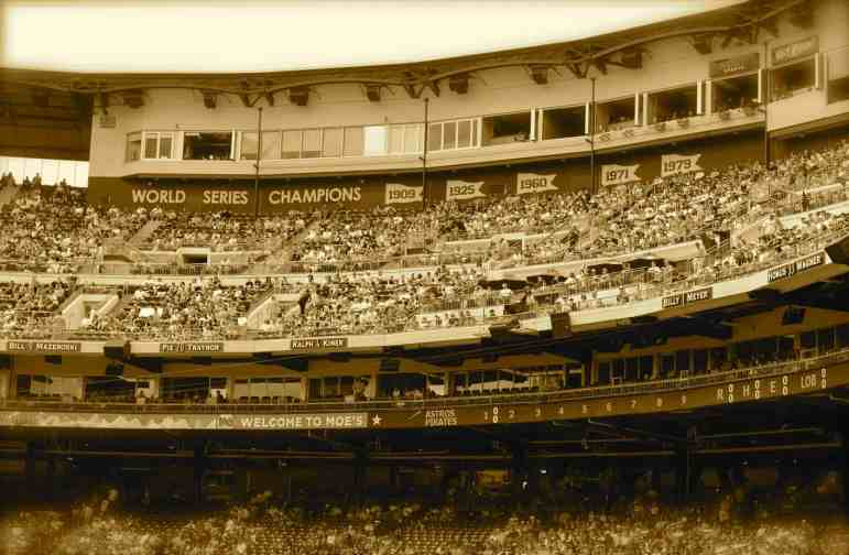 Sepia Press Box of PNC Park