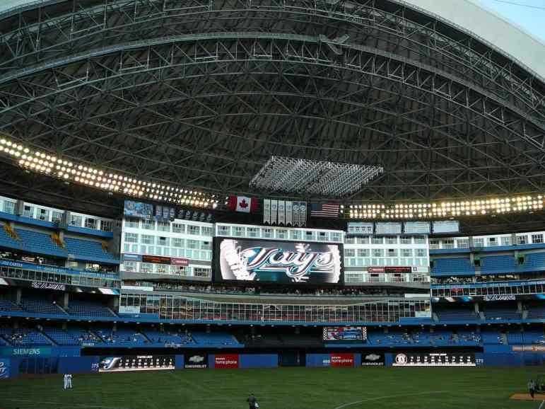 Scoreboard at Rogers Centre