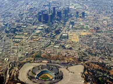 Arial View of Dodger Stadium