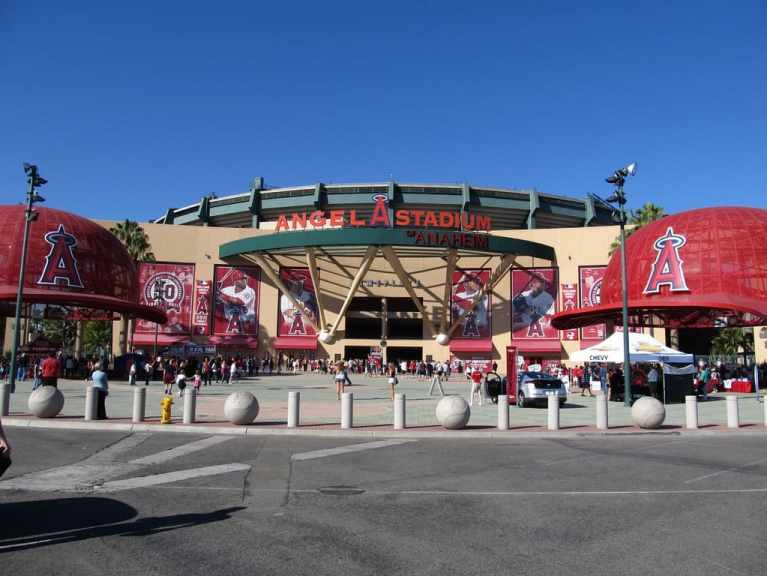 Entrance to Angel Stadium