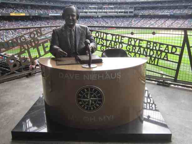 Dave Niehaus Statue at Safeco Field