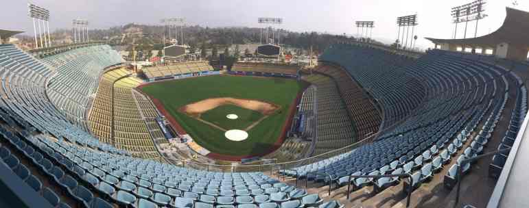 Symmetry of Dodger Stadium