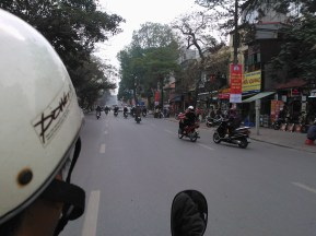 A ride on a motor bike