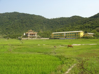 A temple and a school on Cham Islands.