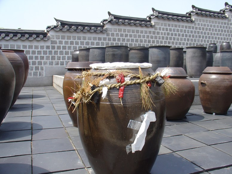 Jars that were used to store Kimchi during the year.