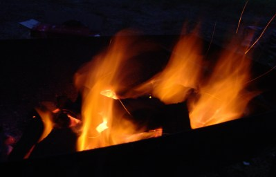 Flames gave us warmth.