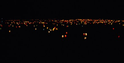 The lanterns freshly set out II.