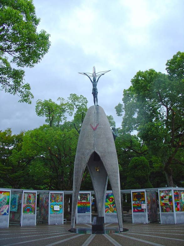 This memorial is dedicated for all the children who died from the nuclear strike. It was initiated by children.