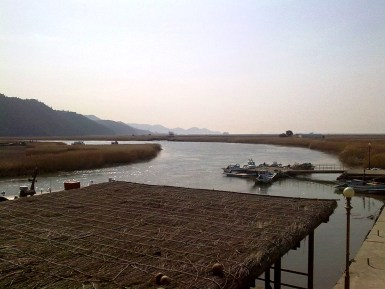 A river in Suncheon EcoPark leading into the sea