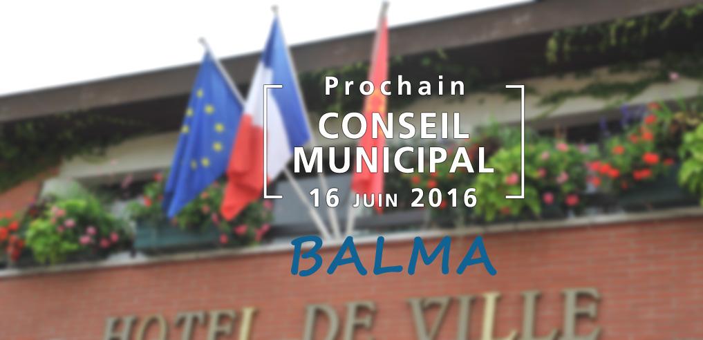 Prochain Conseil Municipal de Balma le 16 juin 2016