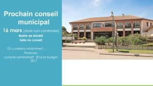 BalmAvenir - Conseil municipal du 23 février 2017 - Diapo 10