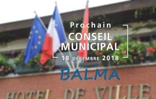 Prochain Conseil municipal le mardi 18 décembre 2018