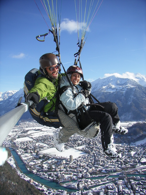 Paragliding Winter Best Outdoor Activities Interlaken