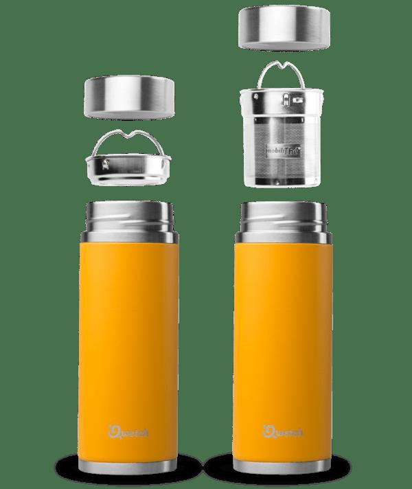 Orange Qwetch Insulated Stainless Steel tea mug - 300ml