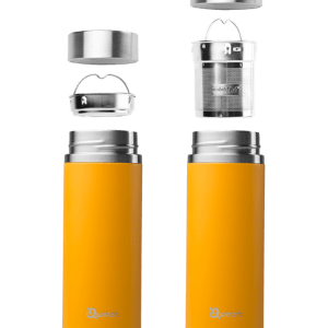 Orange Qwetch Insulated Stainless Steel tea mug - 300ml
