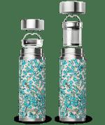 White Blue Washi Qwetch Insulated Stainless Steel tea mug - 300ml