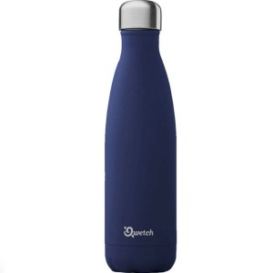 Stainless steel insulated bottle Granite theme Qwetch 500ml