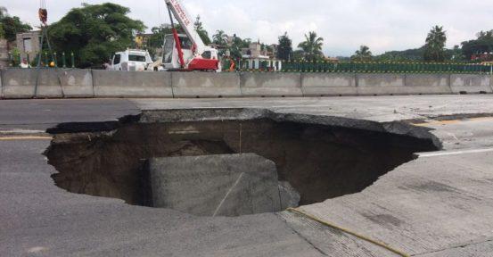 Alternativas ante el cierre del Paso Express de Cuernavaca por socavón