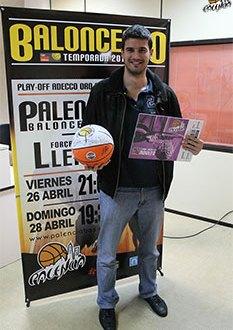 Juanpe, ganador del pasado Quini-Palencia. Foto PalenciaBasket.com