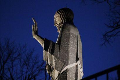 Cristo del Otero de noche