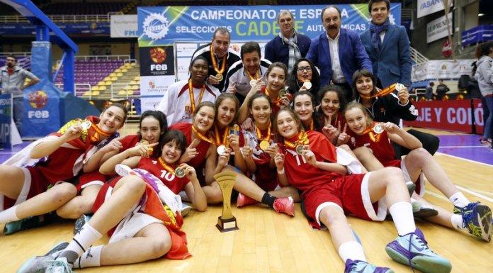 La selección femeninade Castilla y León en categoría cadete, CAMPEONA DE ESPAÑA 2015