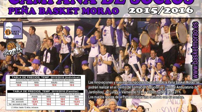 Cartel de la campaña de socios de la Peña Basket Morao #hazteunFANdepalenciabasket