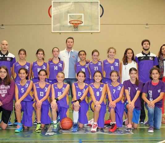 Plantilla del CB Palencia Infantil Femenino. Foto CB Palencia.
