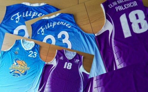 Las camisetas de Jaime Fernández, la que vistió con el CB Palencia y la que viste con Filipenses.