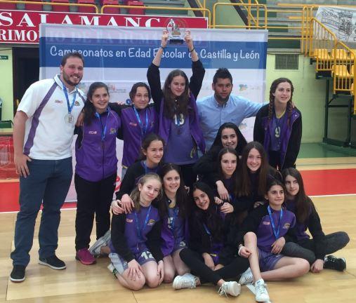 Santo Domingo, campeón infantil escolar de Castilla y León. Foto CD Maristas