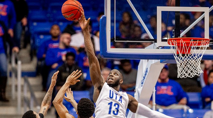 UTA vs Tulsa Men's Basketball at College Park Center in Arlington, Texas on November 9, 2019. (Photo by/Ellman Photography)
