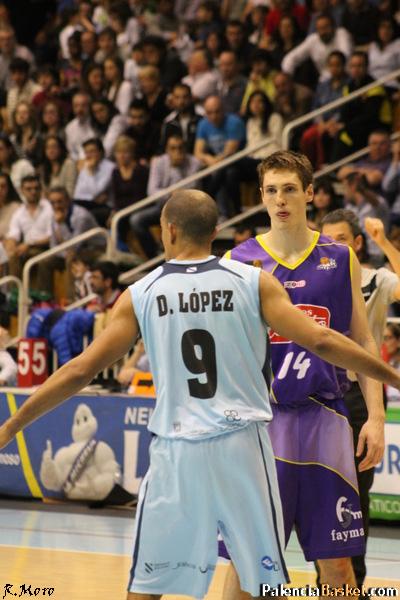 Quinn, un lujazo para Palencia. Foto Rubén Moro (PalenciaBasket.com)