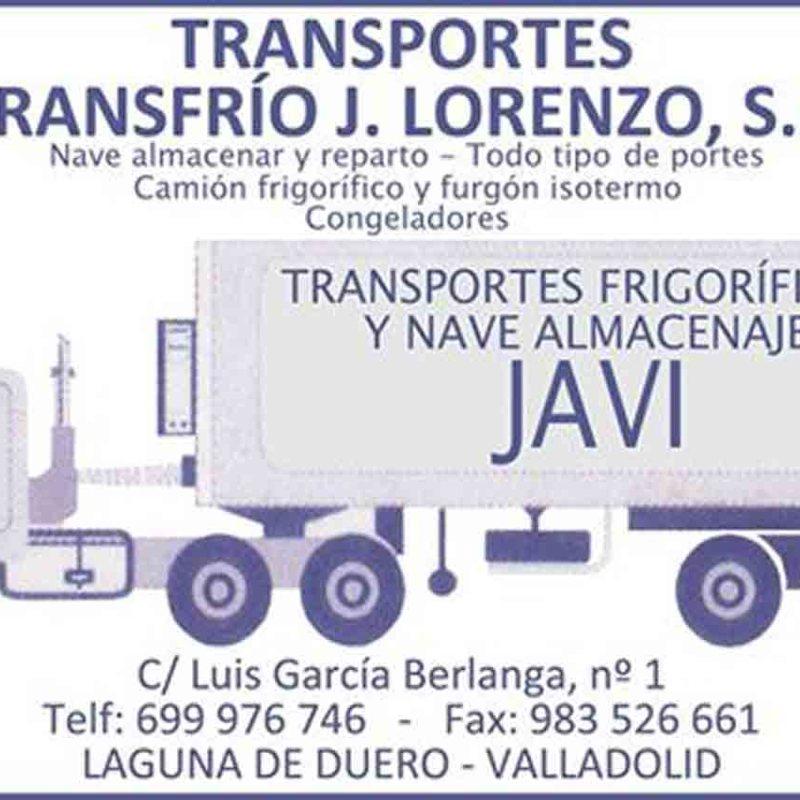 Transportes transfrío J. Lorenzo