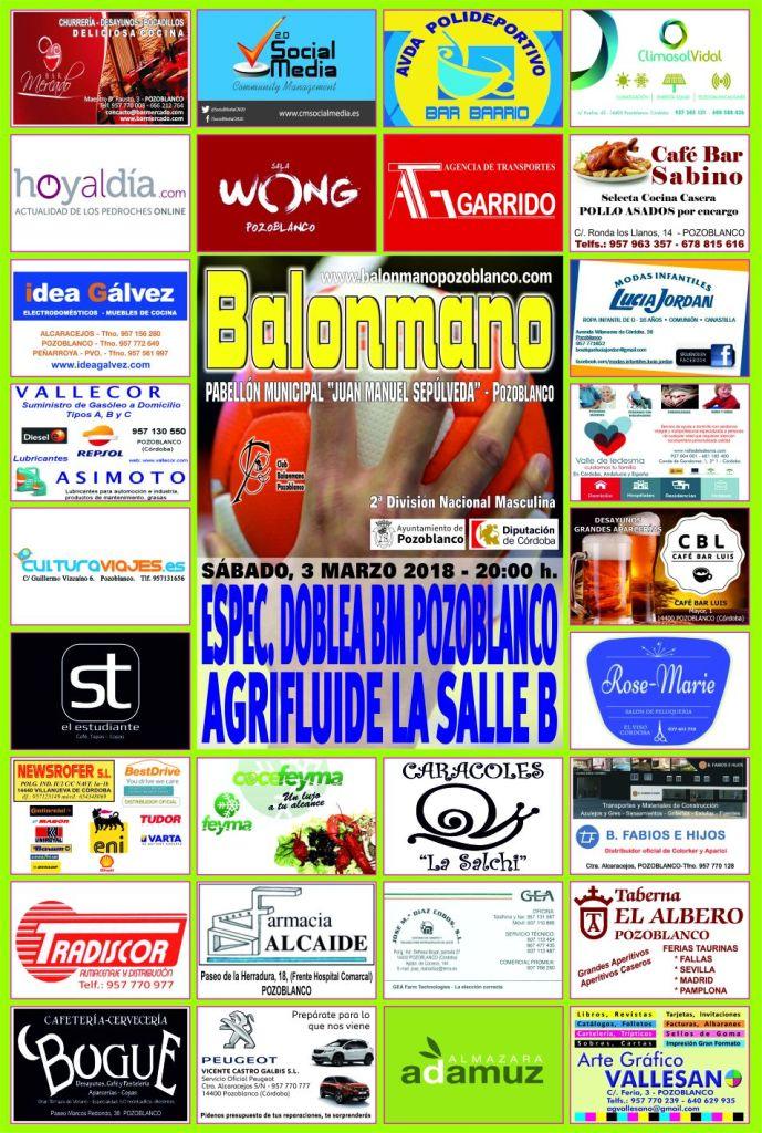 Balonmano Pozoblanco - Agrifluide La Salle B - Marzo 2018