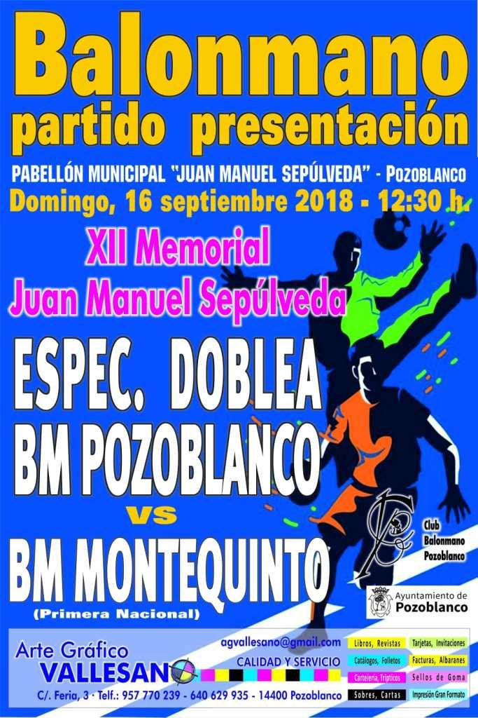 Memorial Juan Sepúlveda y presentacion categorias inferiores balonmano pozoblanco