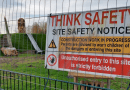 Playground Construction Site Warning