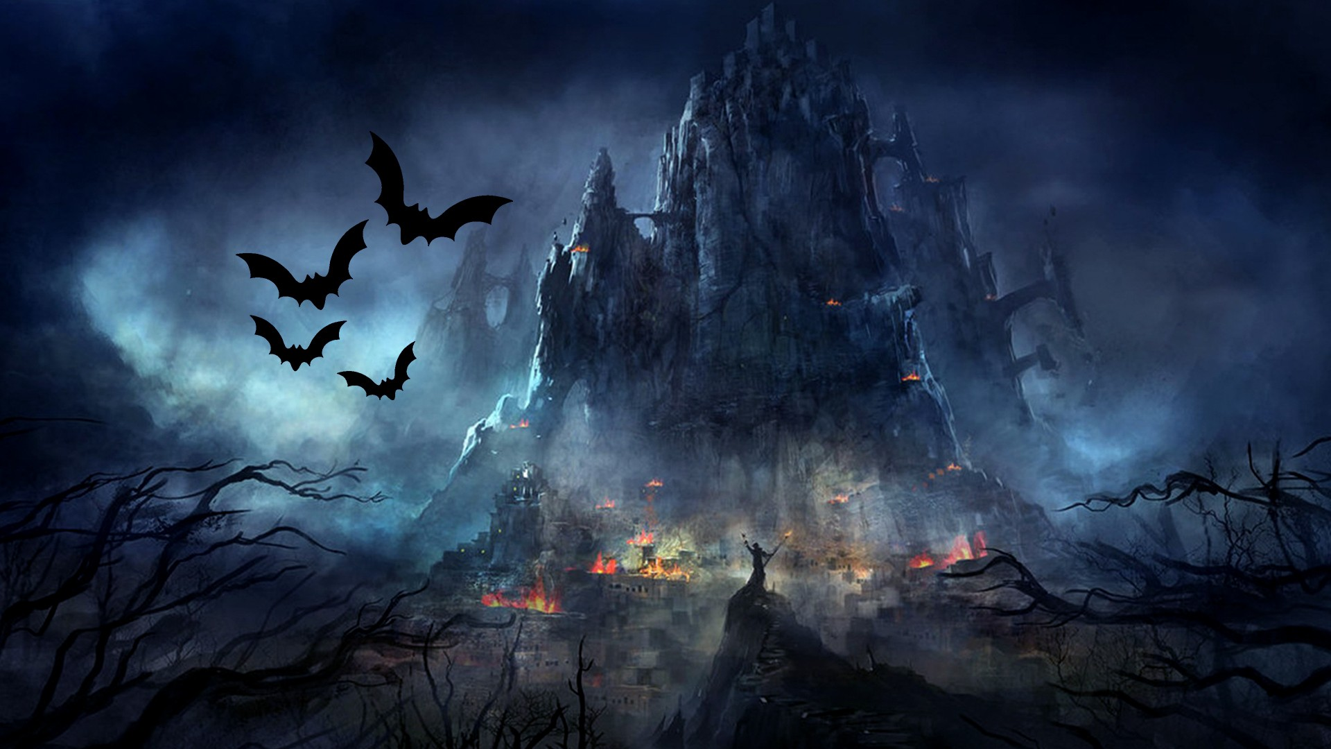 Halloween Bat Background Wallpaper