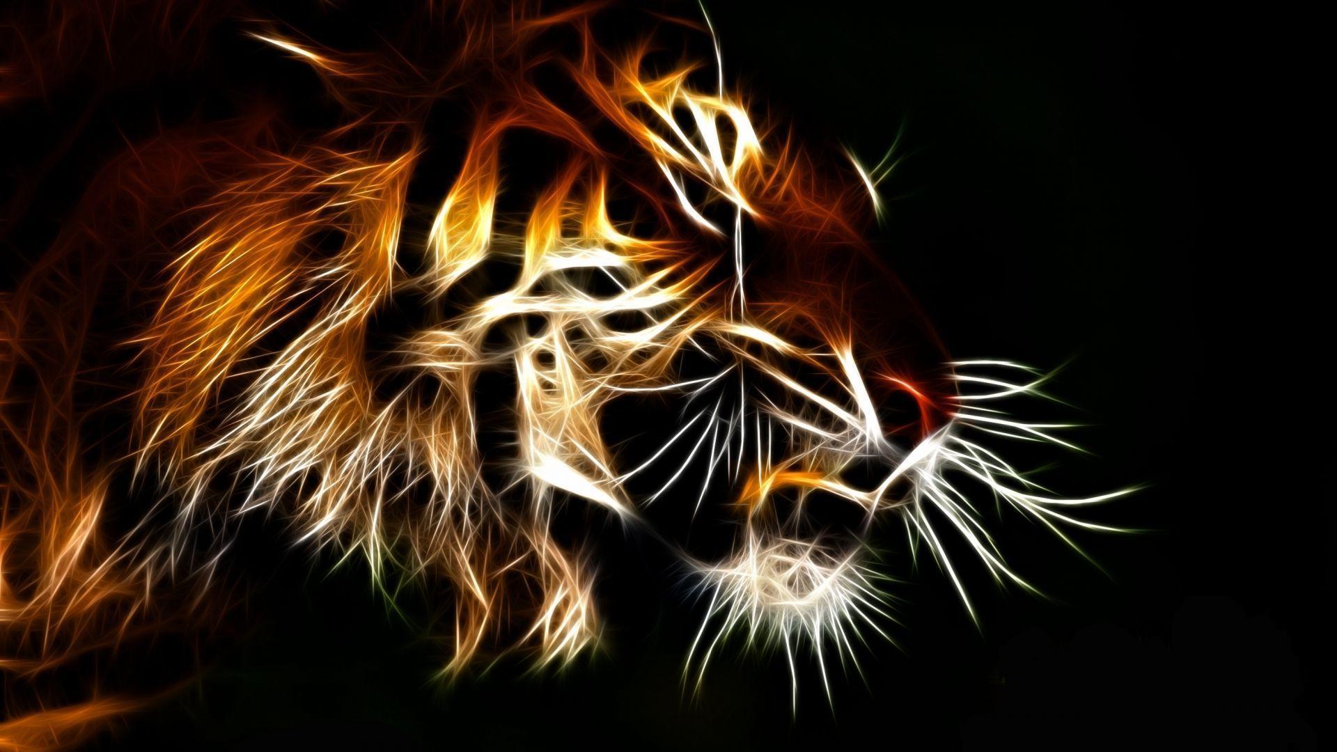 tiger art wallpaper 20528 - baltana