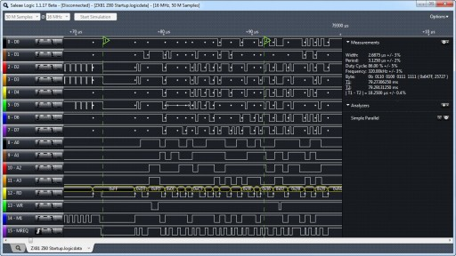 Use a logic analyzer while debugging software