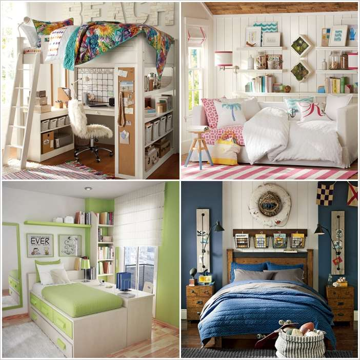 10 Smart Solutions Teen Bedrooms for Small Space on Teenager Simple Small Bedroom Design  id=92498